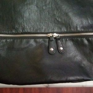 H&M Black Faux Leather Hobo Bag
